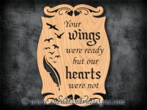 Your Wings Were Ready Scroll Saw Pattern