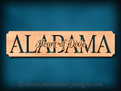 Alabama Heart Of Dixie Scroll Saw Pattern