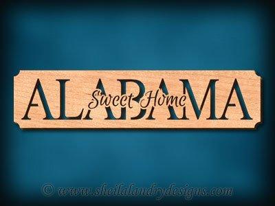 Sweet Home Alabama Scroll Saw Pattern