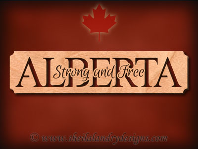 Alberta - Strong And Free Scroll Saw Pattern