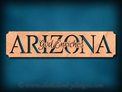 Arizona God Enriches Scroll Saw Pattern
