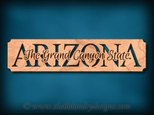 Arizona Grand Canyon State Scroll Saw Pattern