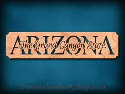 Arizona Grand Canyon State Scroll Saw Pattern