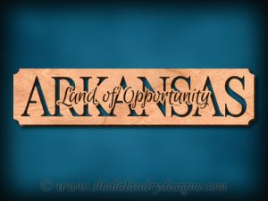 Arkansas Land Of Opportunity Scroll Saw Pattern