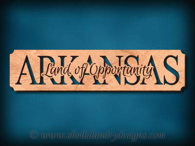 Arkansas Land Of Opportunity Scroll Saw Pattern
