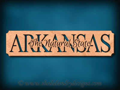 Arkansas The Natural State Scroll Saw Pattern