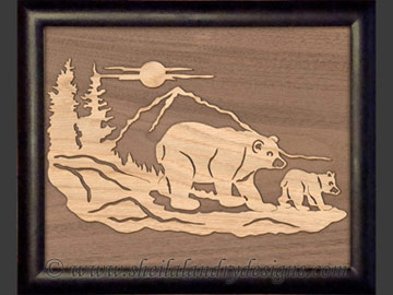 Bear Overlay Scroll Saw Pattern