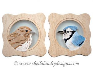 Blue Jay & Sparrow Scroll Saw Pattern