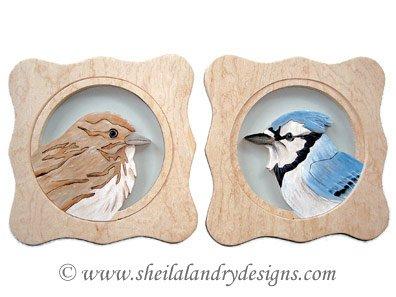 Blue Jay & Sparrow Scroll Saw Pattern