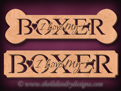 Boxer Dog Breed Scroll Saw Pattern