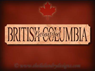 British Columbia - Beautiful Scroll Saw Pattern