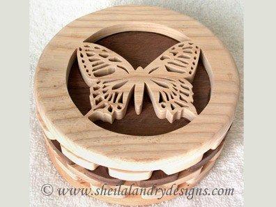 Butterfly Box Scroll Saw Pattern
