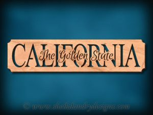 California - The Golden State Scroll Saw Pattern
