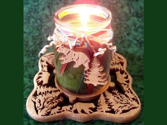 Candle Holder Laser Pattern