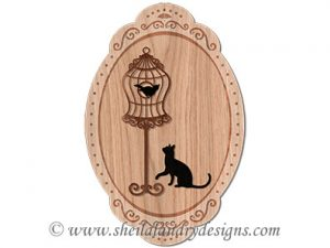 Cat & Bird Scroll Saw Pattern