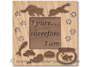 Cat Frame Scroll Saw Pattern