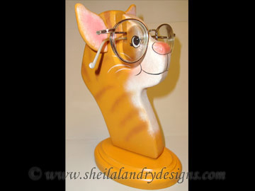 Cat Glasses Stand Woodworking Plans