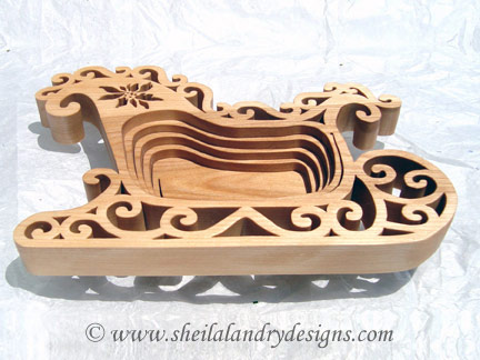 Christmas Basket Scroll Saw Pattern