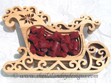 Christmas Sleigh Scroll Saw Pattern