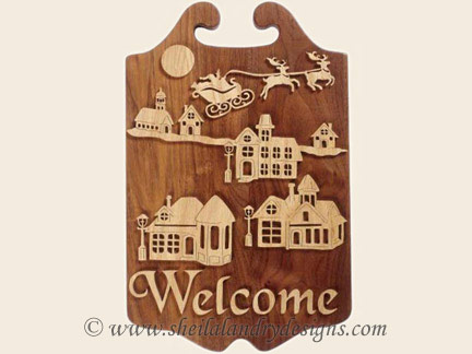 Christmas Welcome Scroll Saw Pattern