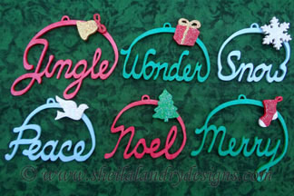 Christmas Word Art Vector Image