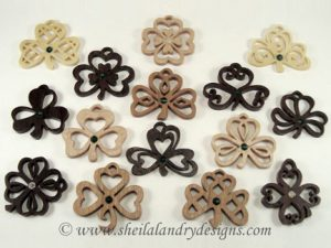 Clover Scroll Saw Pendant Pattern