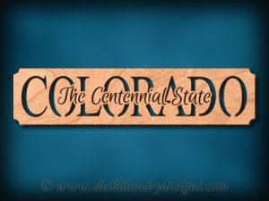 Colorado - The Centennial State Scroll Saw Pattern