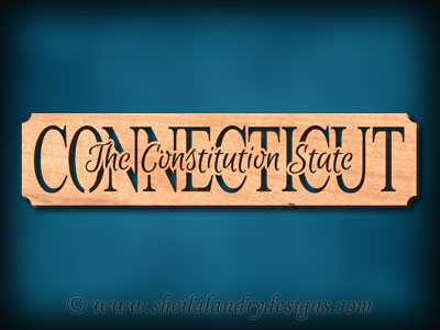 Connecticut - The Constitution State Scroll Saw Pattern