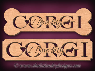 Corgi Scroll Saw Pattern