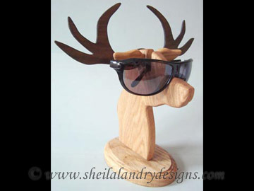 Deer Glasses Stand Scroll Saw Pattern