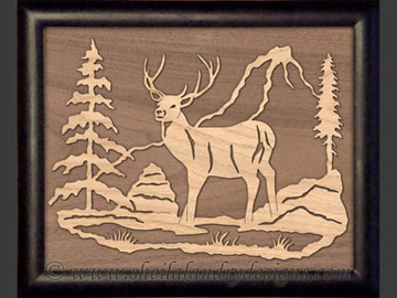 Deer Overlay Scroll Saw Pattern