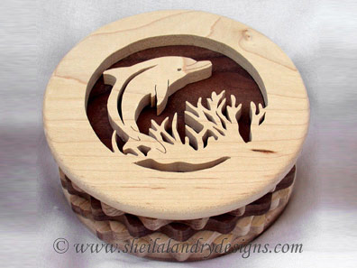 Dolphin Box Scroll Saw Pattern