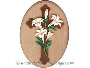 Easter Cross Intarsia Pattern