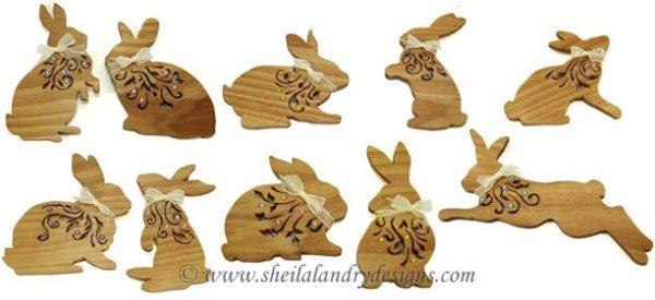 Easter Ornaments Laser Pattern