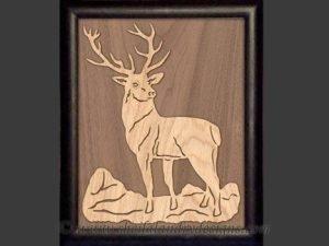Elk Overlay Scroll Saw Pattern