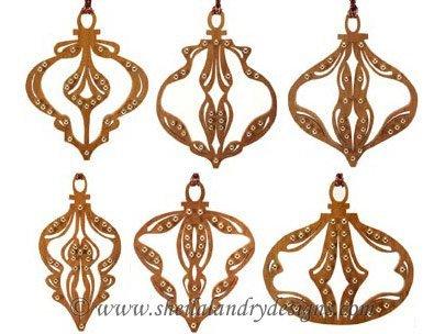 Embellished Ornaments Scroll Saw Pattern