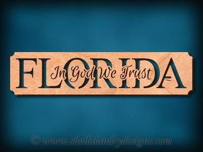Florida - In God We Trust Scroll Saw Pattern