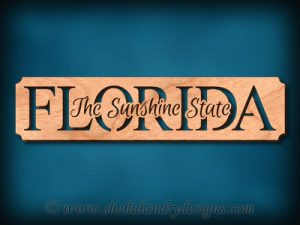 Florida - The Sunshine State Scroll Saw Pattern