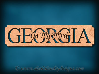 Georgia - On My Mind Scroll Saw Pattern
