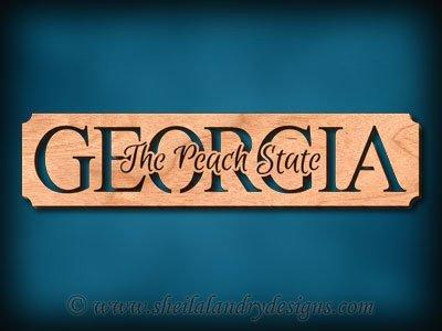 Georgia - The Peach State Scroll Saw Pattern