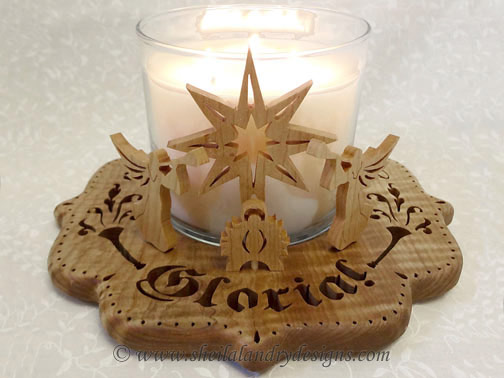 Gloria Nativity Scroll Saw Pattern