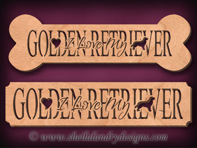 Golden Receiver Scroll Saw Pattern