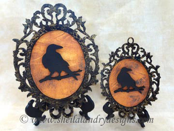 Halloween Raven Scroll Saw Pattern