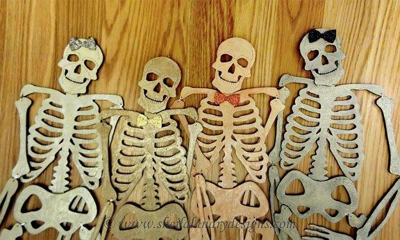 Halloween Skeleton Laser Pattern