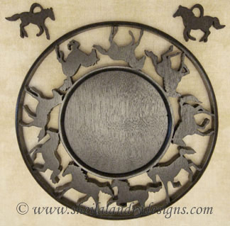 Horse Candle Tray Laser Pattern