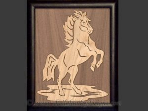 Horse Overlay Scroll Saw Pattern