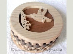 Hummingbird Box Scroll Saw Pattern