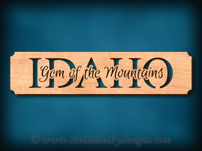 Idaho - Gem Of The Mountains Scroll Saw Pattern