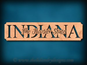 Indiana - The Hoosier State Scroll Saw Pattern