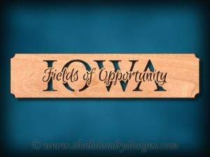 Iowa - Fields Of Opportunity Scroll Saw Pattern